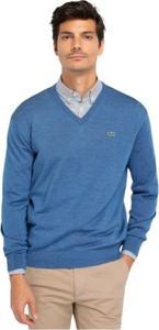 Sweter Lacoste z dżerseju w stylu casual