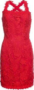 Różowa sukienka bonprix BODYFLIRT boutique z dekoltem w karo bez rękawów