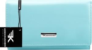 Miętowy portfel Kochmanski Studio Kreacji® ze skóry