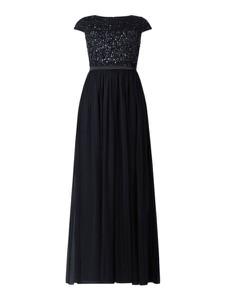 Czarna sukienka Christian Berg Cocktail z szyfonu maxi