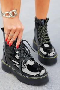 Czarne botki IVET w stylu glamour