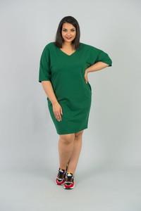 Zielona sukienka KARKO dla puszystych w sportowym stylu mini