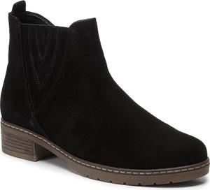 Czarne botki Gabor w stylu casual