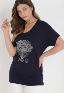 T-shirt born2be z krótkim rękawem z nadrukiem