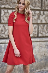 0169043306 sukienka trapezowa elegancka - stylowo i modnie z Allani