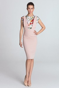 Różowa sukienka Merg bez rękawów