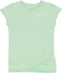 Miętowa koszulka dziecięca Nike