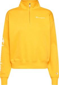 Żółta bluza Champion z dresówki w stylu casual krótka