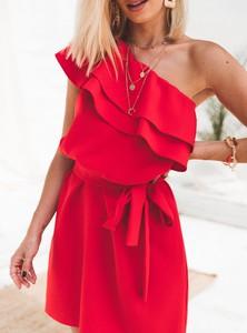 Czerwona sukienka SELFIEROOM mini