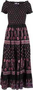 Sukienka bonprix bpc bonprix collection z bawełny z krótkim rękawem maxi