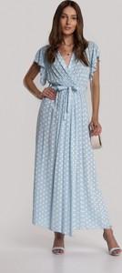 Niebieska sukienka Renee maxi