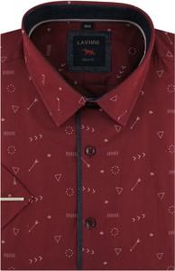 Czerwona koszula Laviino z klasycznym kołnierzykiem z długim rękawem