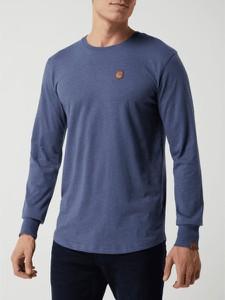 Niebieska koszulka z długim rękawem Alife And Kickin z długim rękawem z bawełny w stylu casual