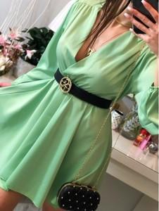 Sukienka Smlfashion.pl mini z dekoltem w kształcie litery v kopertowa