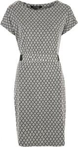 Sukienka Top Secret z okrągłym dekoltem z krótkim rękawem prosta
