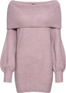 Różowy sweter bonprix BODYFLIRT w stylu casual z dzianiny