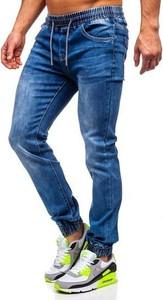 Granatowe jeansy Denley z bawełny