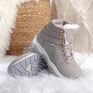 Buty dziecięce zimowe Royalfashion.pl sznurowane dla dziewczynek