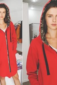 Bluza 3 For U w militarnym stylu z tkaniny