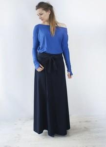 Niebieska spódnica Meleksima maxi
