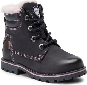 Czarne buty dziecięce zimowe Lasocki Kids