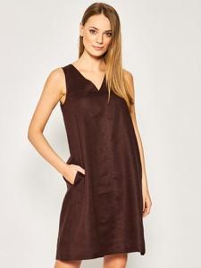 Sukienka Pennyblack z dekoltem w kształcie litery v bez rękawów mini