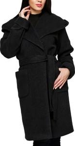 Czarny płaszcz Florens