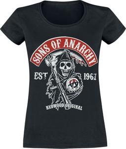 T-shirt Sons Of Anarchy z krótkim rękawem z bawełny w młodzieżowym stylu