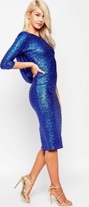 Sukienka Asos midi z długim rękawem bodycon