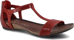 Sandały Carinii ze skóry