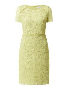 Sukienka Gerry Weber z bawełny z okrągłym dekoltem z krótkim rękawem