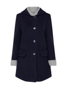 Granatowy płaszcz Christian Berg Woman Selection