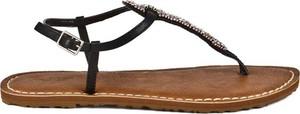 Brązowe sandały Protest w stylu casual z płaską podeszwą z klamrami