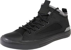 Czarne buty sportowe Converse sznurowane