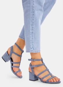 Niebieskie sandały DeeZee z klamrami