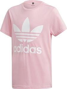 Różowa koszulka dziecięca Adidas z krótkim rękawem