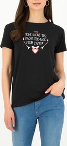 T-shirt Blutsgeschwister w młodzieżowym stylu z okrągłym dekoltem z krótkim rękawem