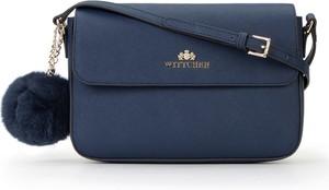 Niebieska torebka Wittchen ze skóry średnia