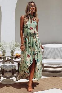 Sukienka IVET.PL w stylu boho maxi asymetryczna