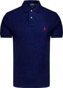 Granatowy t-shirt POLO RALPH LAUREN z tkaniny