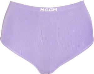 Fioletowe majtki MSGM z dzianiny