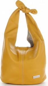 Żółta torebka VITTORIA GOTTI na ramię duża