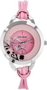 ZEGAREK DAMSKI GINO ROSSI - LACCIO II (zg595l) -pink - Srebrny    Różowy