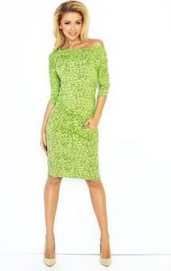 Zielona sukienka NUMOCO midi ołówkowa