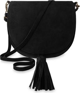 317351a7c487c czarna torebka z frędzlami - stylowo i modnie z Allani