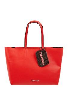 Czerwona torebka Calvin Klein ze skóry ekologicznej do ręki w wakacyjnym stylu