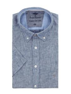 Koszula Fynch Hatton w stylu casual z krótkim rękawem z lnu