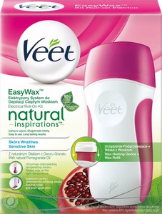Veet, Natural Inspirations, Easy Wax, elektryczny system do depilacji ciepłym woskiem, 50 ml