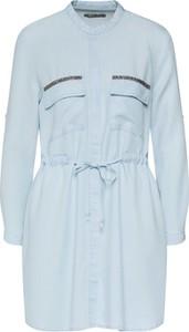 Sukienka LTB z długim rękawem koszulowa mini
