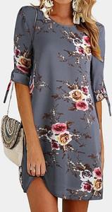 Sukienka Arilook mini z okrągłym dekoltem